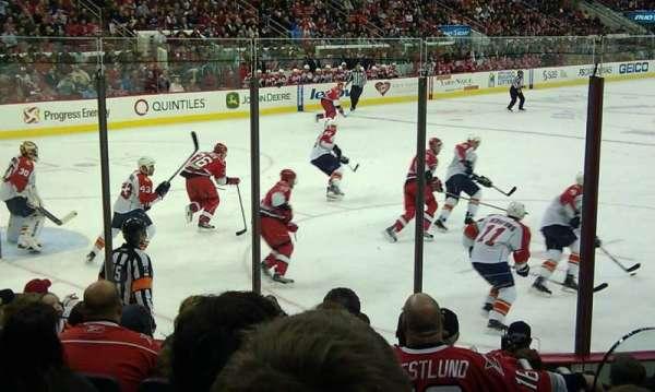 PNC Arena, secção: 124, fila: J, lugar: 2