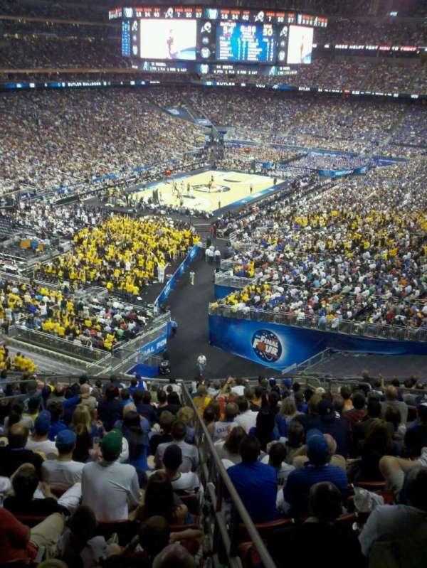 NRG Stadium, secção: 348, fila: v, lugar: 1