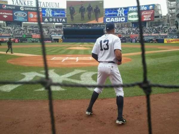 Yankee Stadium, secção: 020, fila: 1, lugar: 5