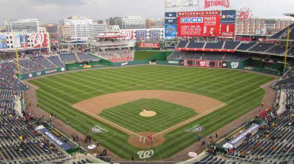 Nationals Park, secção: 314, fila: J, lugar: 18