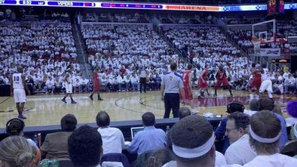 Wells Fargo Arena, secção: 104, fila: b, lugar: 5