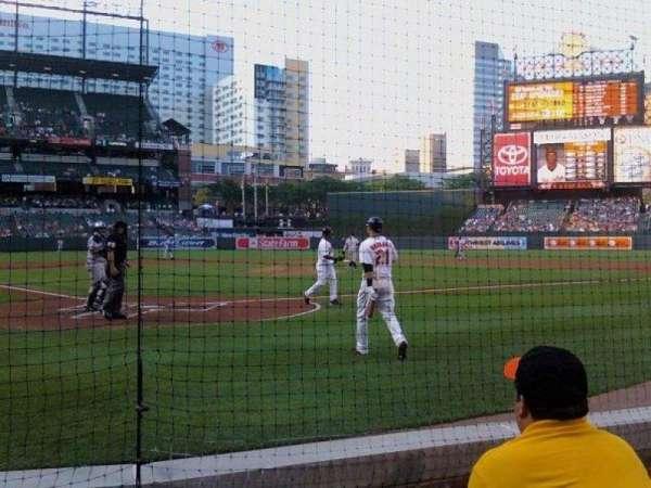 Oriole Park at Camden Yards, secção: 34, fila: AAA, lugar: 6