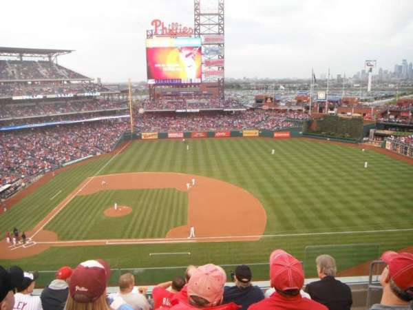 Citizens Bank Park, secção: 315, fila: 6, lugar: 3