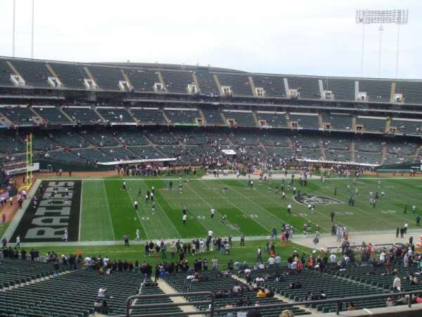 Oakland Coliseum, secção: 246, fila: 15, lugar: 8
