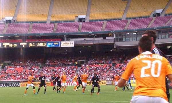 RFK Stadium, secção: 129, fila: 9, lugar: 2