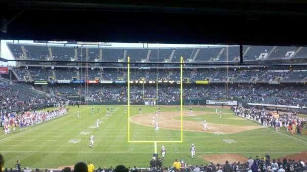 Oakland Coliseum, secção: 128, fila: 32, lugar: 6