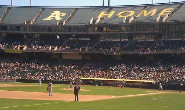 Oakland Coliseum, secção: 128, fila: 8, lugar: 4