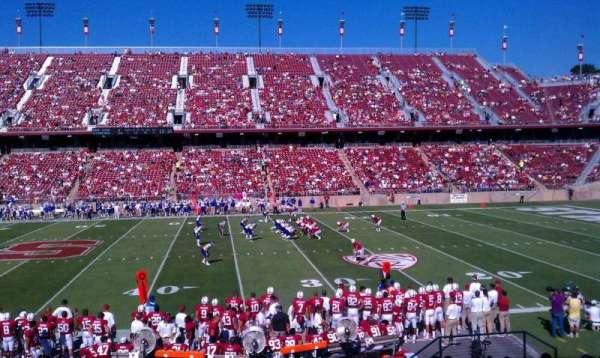Stanford Stadium, secção: 112, fila: S, lugar: 12