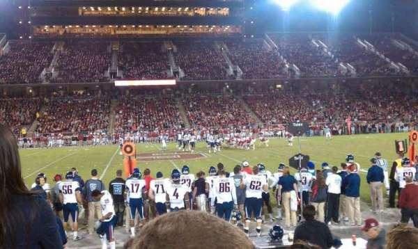 Stanford Stadium, secção: 133, fila: E, lugar: 14