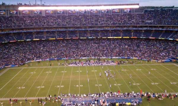 San Diego Stadium, secção: View, fila: 13, lugar: 9
