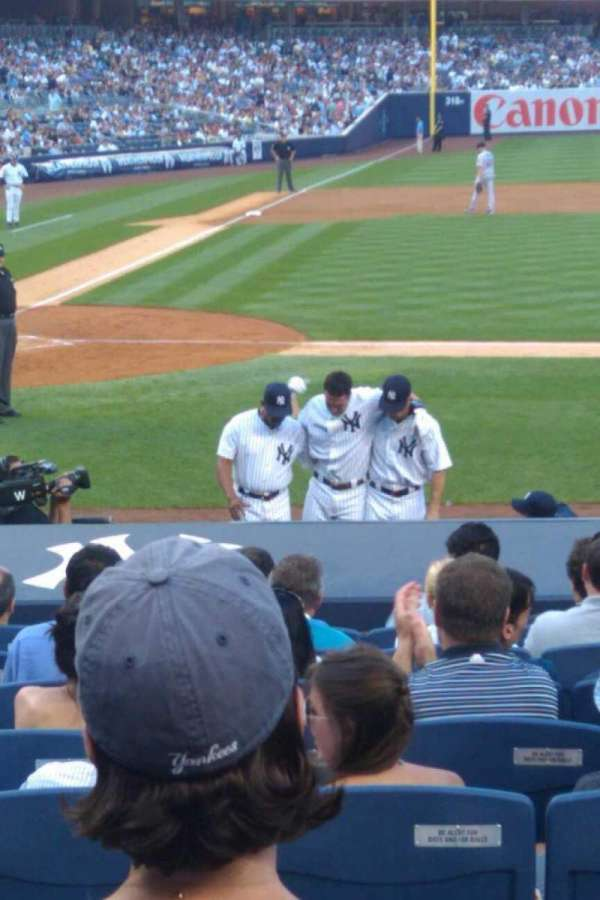 Yankee Stadium, secção: 114, fila: 15