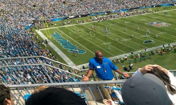 Bank of America Stadium, secção: 547, fila: 2, lugar: 17