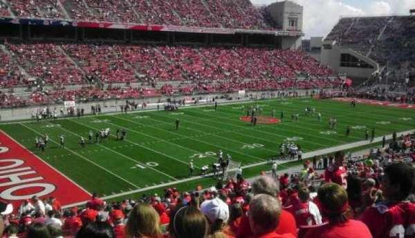 Ohio Stadium, secção: 13A, fila: 28, lugar: 7