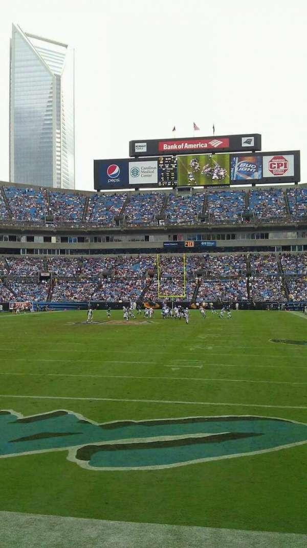 Bank of America Stadium, secção: 140, fila: 3, lugar: 11