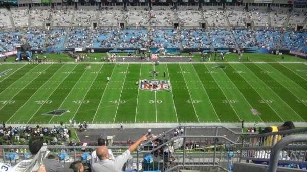 Bank of America Stadium, secção: 542, fila: 6, lugar: 6