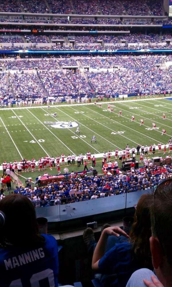 Lucas Oil Stadium, secção: 315, fila: 3, lugar: 8