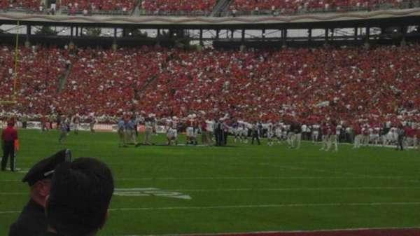 Cotton Bowl, secção: 1, fila: 1
