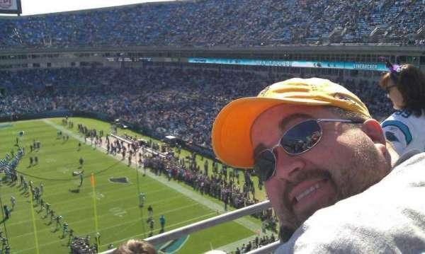 Bank of America Stadium, secção: 502, fila: 1B, lugar: 9