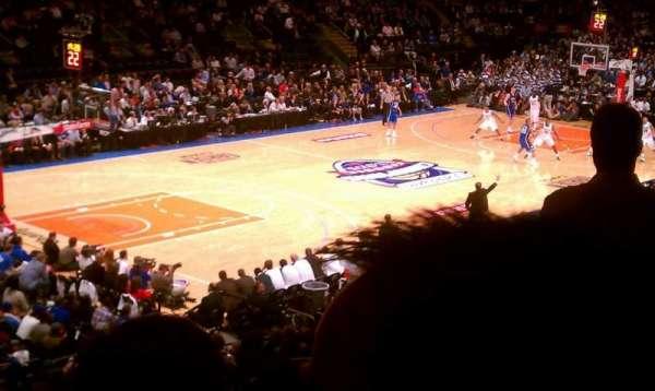 Madison Square Garden, secção: 104, fila: 21, lugar: 21