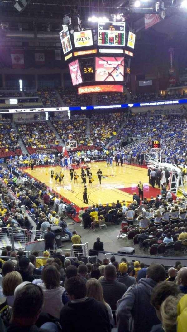 Wells Fargo Arena, secção: 112, fila: U, lugar: 27