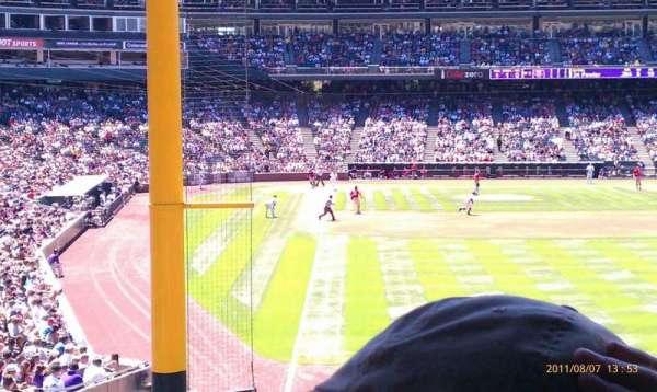 Coors Field, secção: 109, fila: 3, lugar: 6