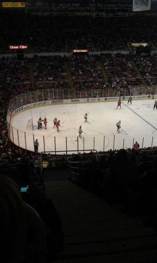 Joe Louis Arena, secção: 225a, fila: 14, lugar: 1