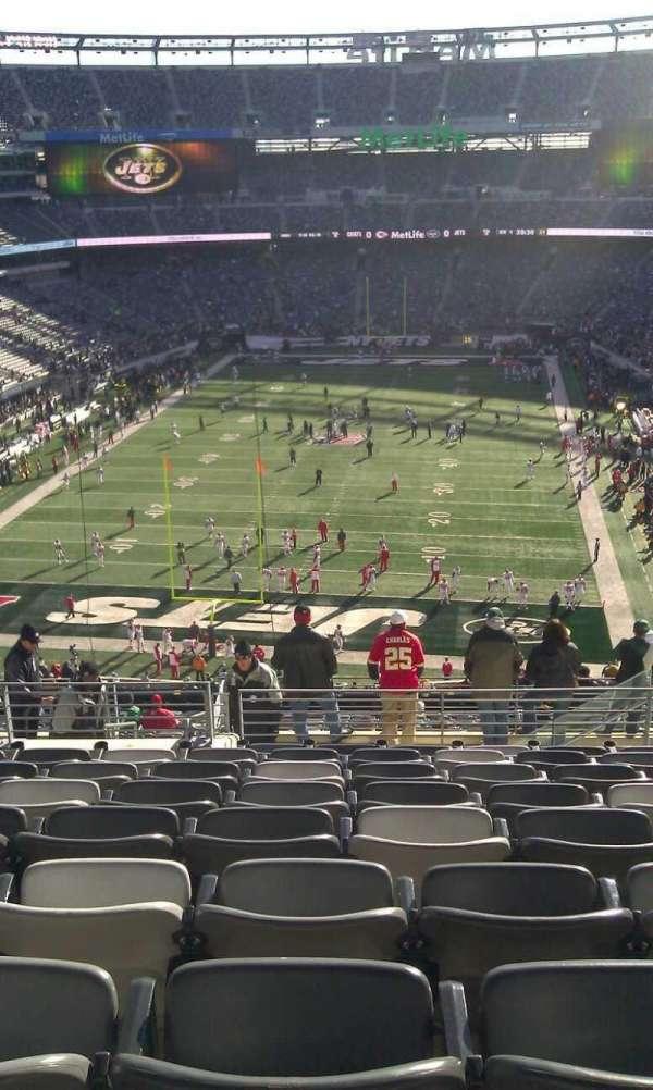 Metlife Stadium, secção: 250B, fila: 11
