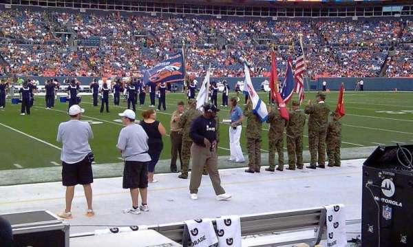 Broncos Stadium at Mile High, secção: 124, fila: A1, lugar: 7