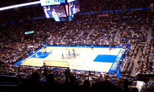 Chesapeake Energy Arena, secção: 306, fila: H