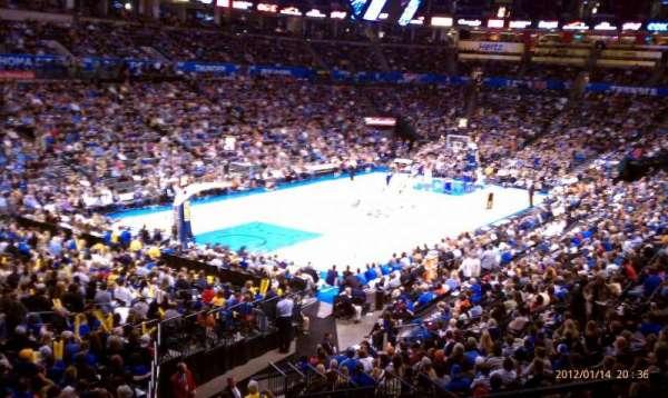 Chesapeake Energy Arena, secção: 227, fila: A