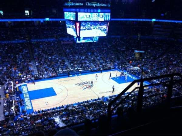 Chesapeake Energy Arena, secção: 310, fila: E, lugar: 10