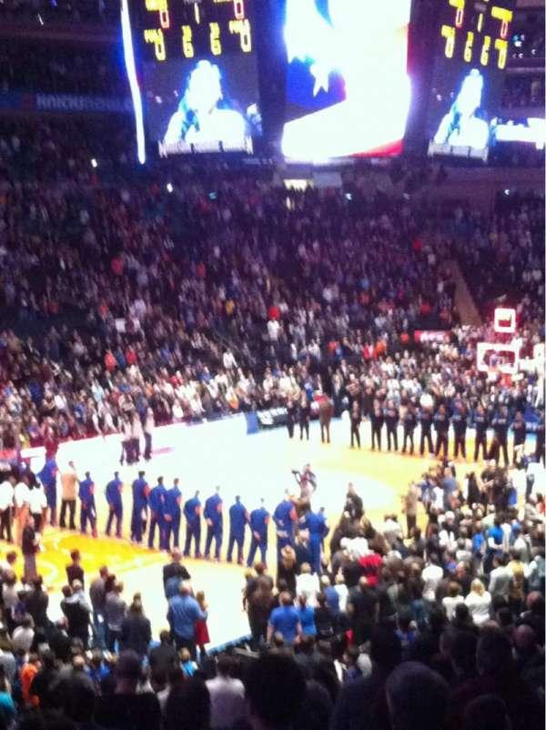 Madison Square Garden, secção: 114, fila: 20, lugar: 13