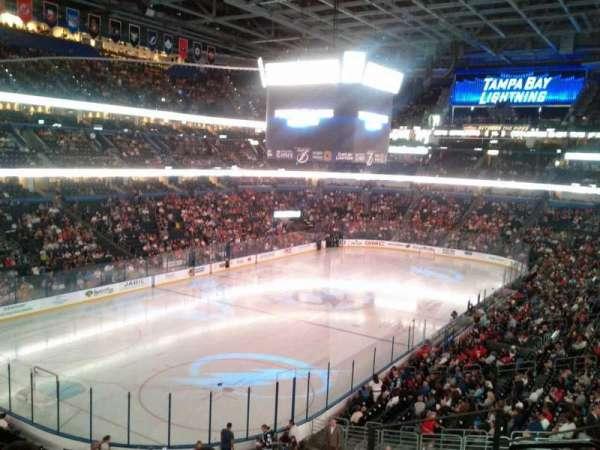 Amalie Arena, secção: 206, fila: E, lugar: 1