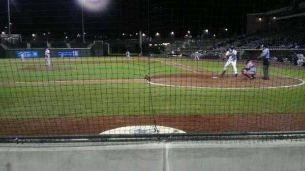 BB&T Ballpark, secção: 113, fila: 3, lugar: 11