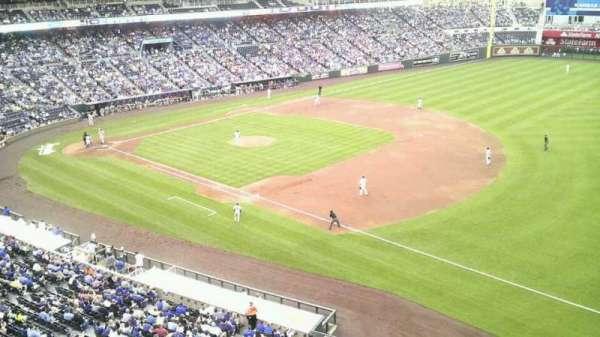 Kauffman Stadium, secção: 434, fila: a, lugar: 8