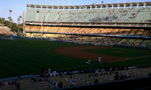 Dodger Stadium, secção: 153LG, fila: D, lugar: 3