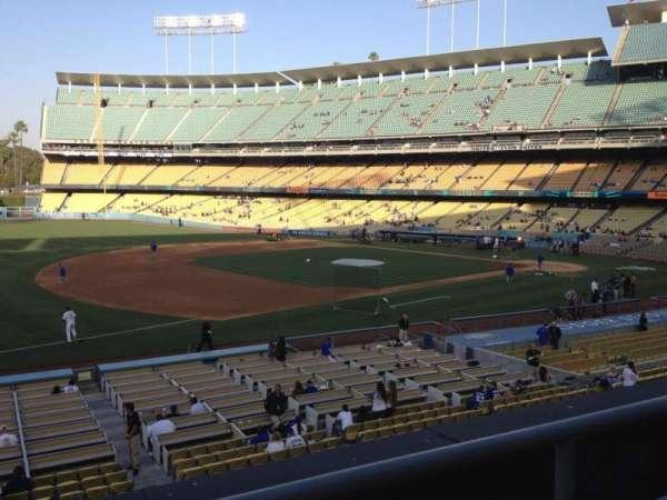 Dodger Stadium, secção: 145LG, fila: B, lugar: 3