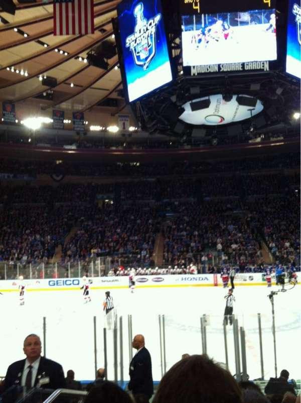 Madison Square Garden, secção: 117, fila: 7