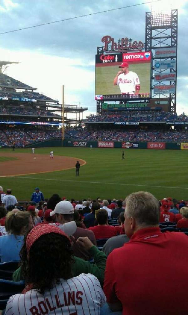 Citizens Bank Park, secção: 112, fila: 24, lugar: 15