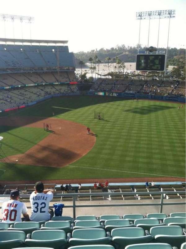 Dodger Stadium, secção: Reserve, fila: F, lugar: 8