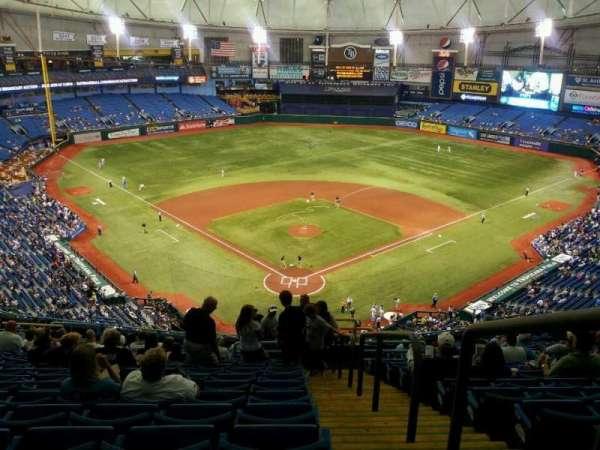 Tropicana Field, secção: 300, fila: y, lugar: 20