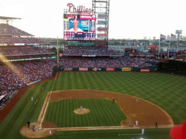 Citizens Bank Park, secção: 316, fila: 7, lugar: 19