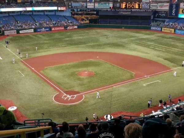 Tropicana Field, secção: 304, fila: M, lugar: 3