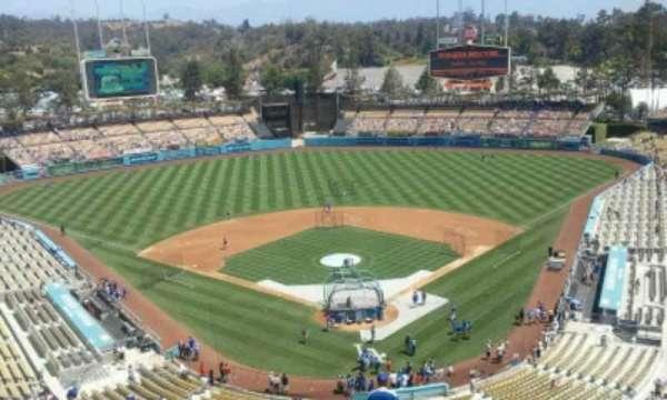 Dodger Stadium, secção: 3TD, fila: U, lugar: 1