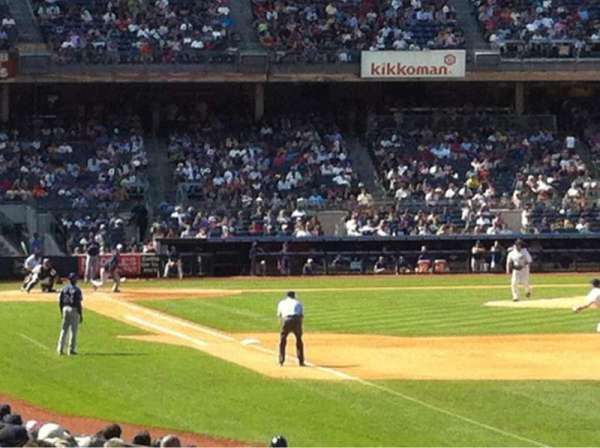 Yankee Stadium, secção: 109, fila: 18, lugar: 9