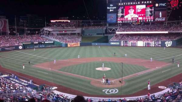 Nationals Park, secção: 213, fila: F, lugar: 7