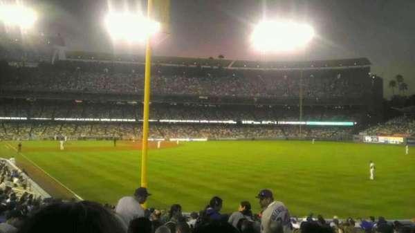 Dodger Stadium, secção: 50FD, fila: v, lugar: 9