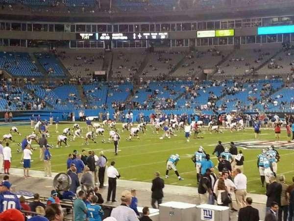 Bank of America Stadium, secção: 110, fila: 10, lugar: 5