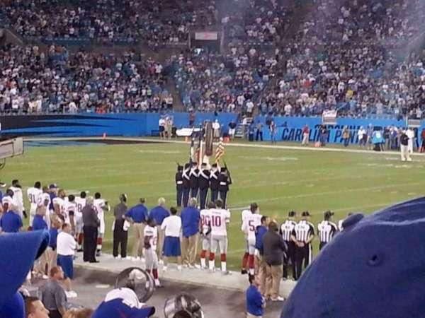 Bank of America Stadium, secção: 110, fila: 10, lugar: 4