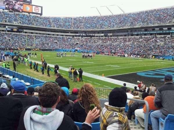 Bank of America Stadium, secção: 126, fila: 9, lugar: 1